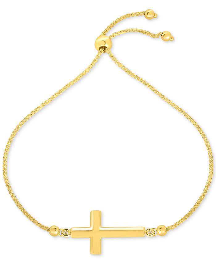 Macy's - East-West Cross Bolo Bracelet in 10k Gold