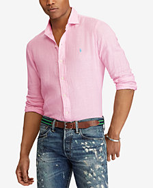 Polo Ralph Lauren Men's Classic Fit Linen Sport Shirt