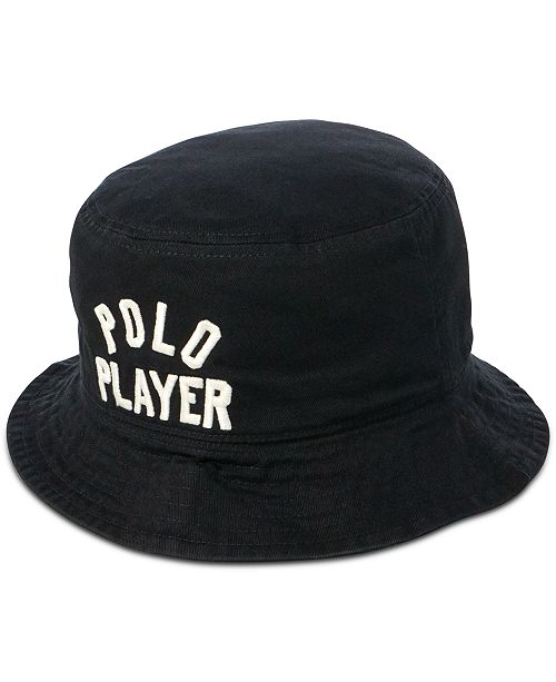 c005eee90eb92 Polo Ralph Lauren Men's Reversible Twill Bucket Hat; Polo Ralph Lauren  Men's Reversible Twill Bucket ...