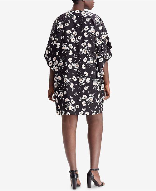 6b376293 Lauren Ralph Lauren Plus Size Floral-Print Shift Dress & Reviews ...