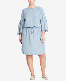 Lauren Ralph Lauren Plus Size Twill Dress