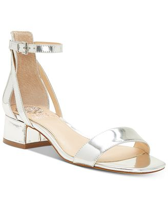 Vince Camuto Women's Shetana Leather Ankle Strap Sandals