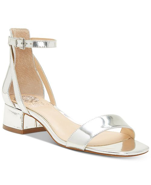 Vince Camuto Women's Shetana Leather Ankle Strap Sandals y64Kcq2S