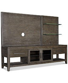 Bravel 80'' Entertainment Center, 2-Pc. Set (Entertainment Deck & Entertainment Console)