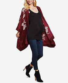 Jessica Simpson Maternity Embroidered Kimono Cardigan