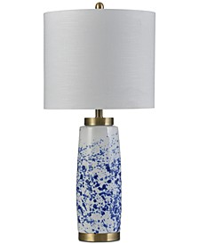 Splatter Blue Ceramic Table Lamp