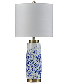 Stylecraft Splatter Blue Ceramic Table Lamp