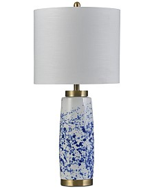 Stylecraft Splatter Blue Ceramic Table Lamp