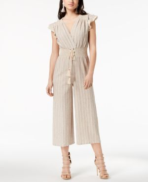 Moon River Cropped Lace-Up Jumpsuit