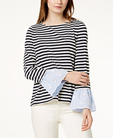 Tommy Hilfiger Striped Contrast Top