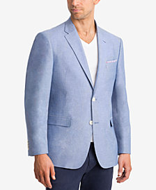 CLOSEOUT! Lauren Ralph Lauren Men's Classic-Fit Light Blue Chambray UltraFlex Sport Coat