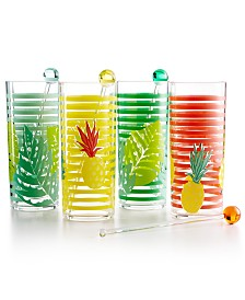 Martha Stewart Collection 4-Pc. Tom Collins Glass Set, Created for Macy's