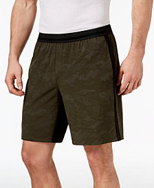 "ID Ideology Men's Reflective Print 9"" Running Shorts, Created for Macy's"