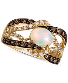 Le Vian Chocolatier® Neopolitan Opal™ (3/4 ct. t.w.) & Diamond (5/8 ct. t.w.) in 14k Gold