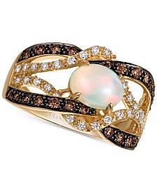 Le Vian Chocolatier® Neopolitan Opal™ (3/4 ct. t.w.) & Diamond (5/8 ct. t.w.) in 14k Gold