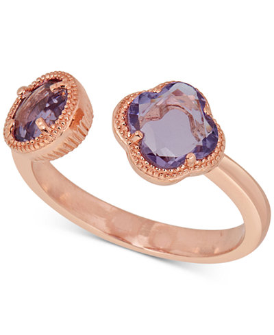 Amethyst Cuff Ring (1-9/10 ct. t.w.) in 18k Rose Gold-Plated Sterling Silver