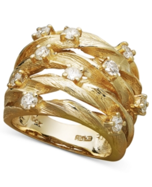 D'Oro by Effy Diamond Woven Ring (1 ct. t.w.) in 14k Gold -  Effy Collection, WP0E854DD4