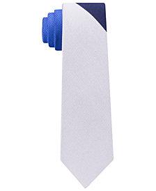 Tommy Hilfiger Men's Tri-Color Panel Slim Silk Tie