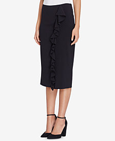 Tahari ASL Ruffled Pencil Skirt