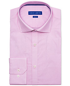 Vince Camuto Men's Slim-Fit Comfort Stretch Coral Diamond Line Dobby Dress Shirt