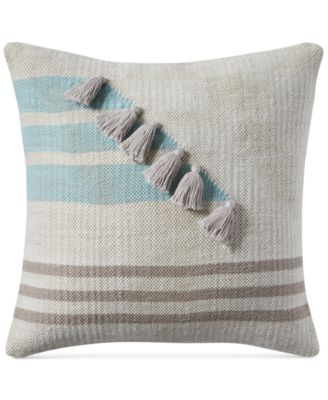 """CLOSEOUT! Stripe Tassel 18"""" x 18"""" Decorative Pillow, Created for Macy's"""