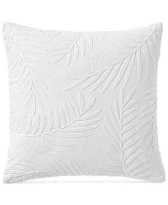 """CLOSEOUT! Palm Leaves 18"""" x 18"""" Decorative Pillow, Created for Macy's"""