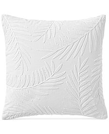 "Lucky Brand Palm Leaves 18"" x 18"" Decorative Pillow, Created for Macy's"