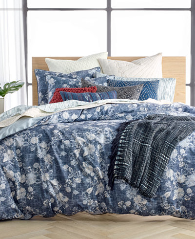 Lucky Brand Sakura Reversible Bedding Collection, Created for Macy's