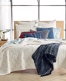 CLOSEOUT! Lucky Brand Sashiko Ivory Quilt Collection, Created for Macy's