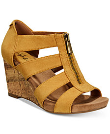 Style & Co Fettee Platform Wedge Sandals, Created For Macy's