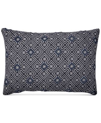 "Tuft Jacquard 16"" x 24"" Decorative Pillow, Created for Macy's"