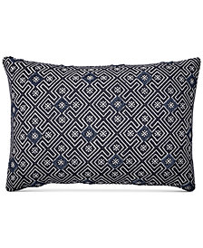 "CLOSEOUT! Lucky Brand Tuft Jacquard 16"" x 24"" Decorative Pillow, Created for Macy's"