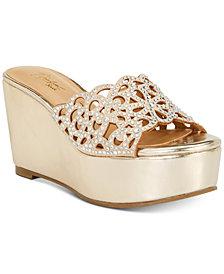 Thalia Sodi Jacklyn Slip-On Platform Wedge Sandals, Created for Macy's