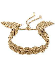 RACHEL Rachel Roy Gold-Tone Rope Tassel Slider Bracelet
