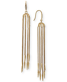 RACHEL Rachel Roy Gold-Tone Linear Rope Earrings