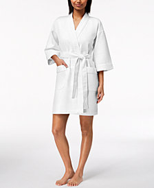 Charter Club Short Spa Waffle Robe, Created for Macy's