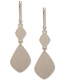 DKNY Gold-Tone Sculptural Double Drop Earrings, Created for Macy's