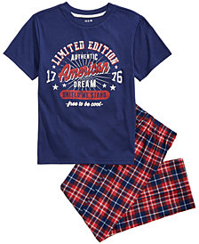 Max & Olivia 2-Pc. Plaid Pajama Set, Little Boys & Big Boys