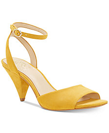Vince Camuto Benatta Cone-Heel Dress Sandals, Created for Macy's