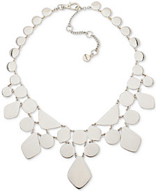 "DKNY Gold-Tone Sculptural Statement Necklace, 16"" + 3"" extender, Created for Macy's"