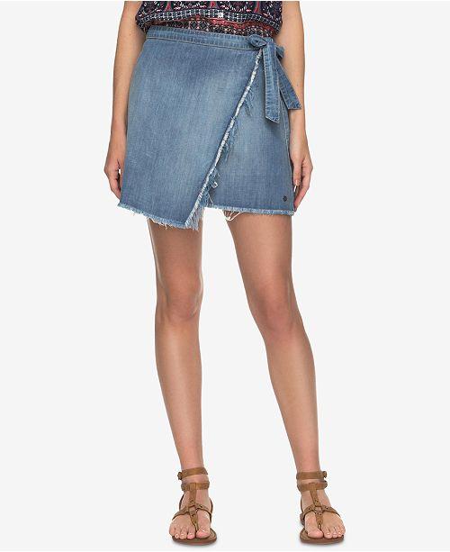 8a4bda7c0128 Roxy Juniors' Punta Brea Denim Wrap Skirt & Reviews - Skirts ...