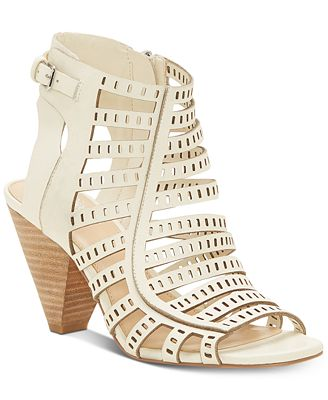 Vince Camuto Evalina Cone-Heel Dress Sandals, Created for Macy's Women's Shoes