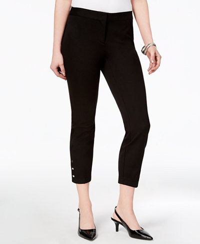 Alfani Petite Comfort-Waist Cropped Ankle Pants, Created for Macy's