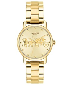 Women's Grand Gold-Tone Stainless Steel Bracelet Watch 28mm