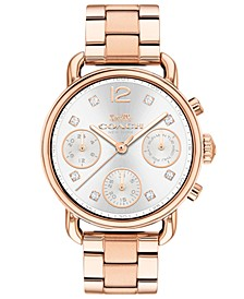 Women's Chronograph Delancey Sport Rose Gold-Tone Stainless Steel Bracelet Watch 36mm