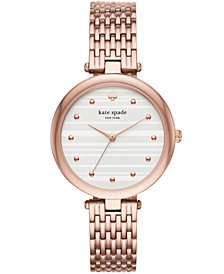 kate spade new york Women's Varick Rose Gold-Tone Stainless Steel Bracelet Watch 36mm