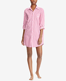 Lauren Ralph Lauren High-Low Paisley-Print Sleepshirt