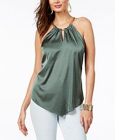 Thalia Sodi Chain-Neck Halter Top, Created for Macy's