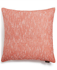 "Lacourte Ellis 22"" Square Diamond Woven Decorative Pillow, Created for Macy's"