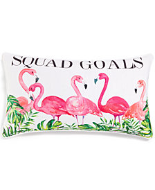 "Lacourte Squad Goals 14"" x 24"" Graphic-Print Decorative Pillow, Created for Macy's"